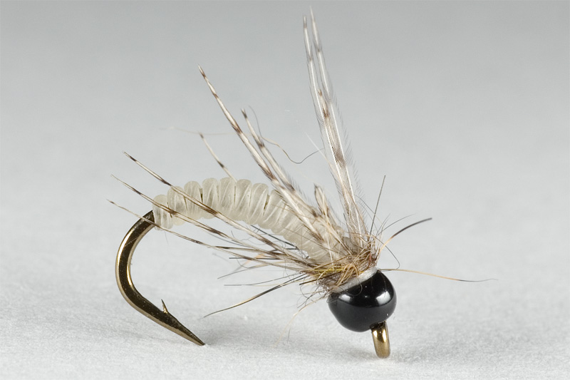 micro emerger tied with catgut for grayling