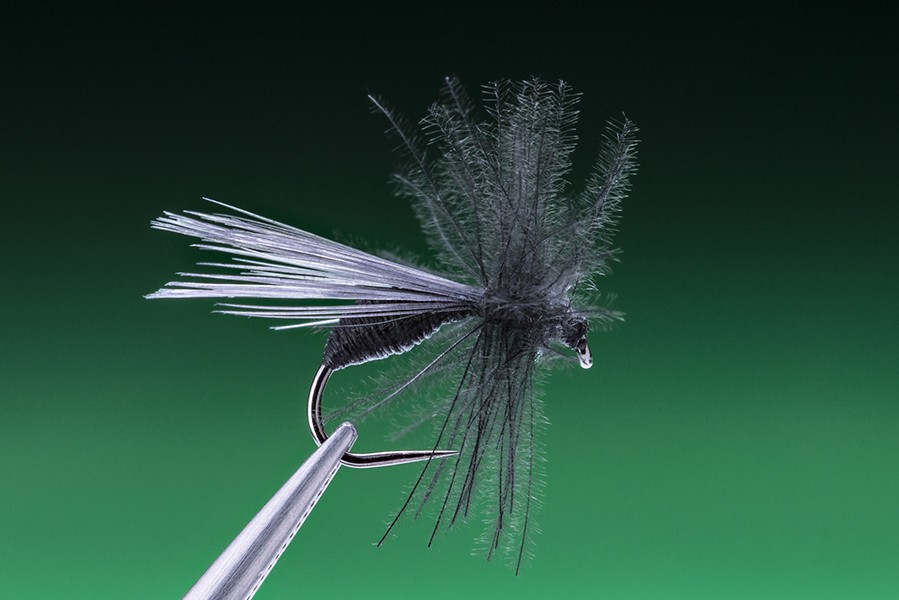 black  and with cdc hackle