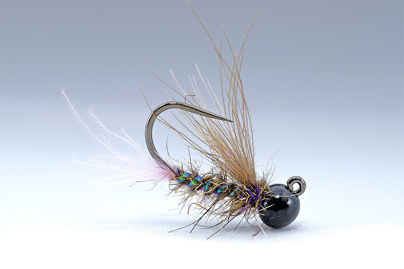 winged nymph tied with CDC and mad rabbit dubbing by Lucian Vasies