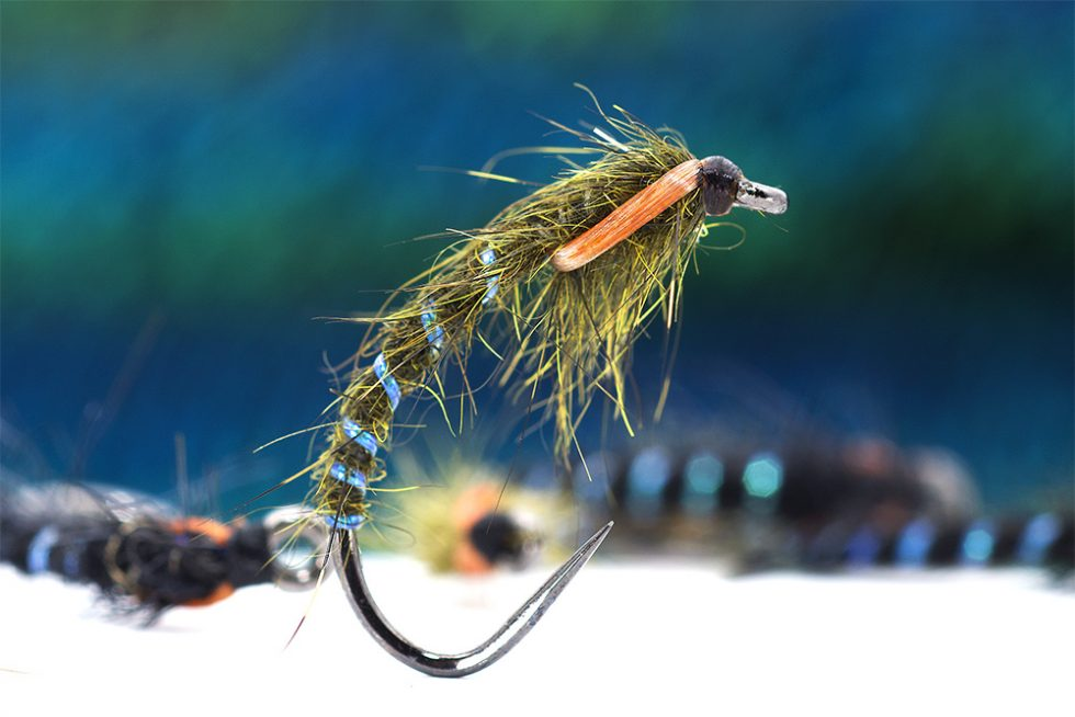 Black with Clear bead sz 24 Zebra  Midge Emerger  Fly HOT PATTERN